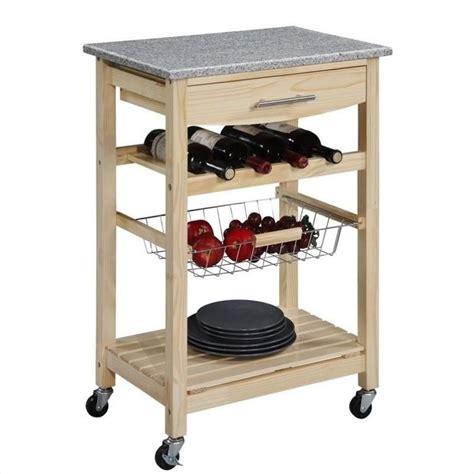 granite top kitchen cart in finish 44037nat 01 kd u