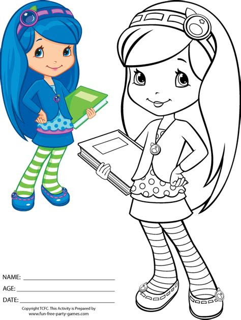 strawberry shortcake coloring pages to print blueberry muffin