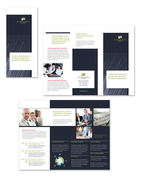 business tri fold brochure templates business planning tri fold brochure template