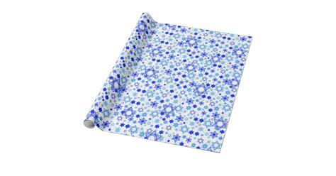 hanukkah gift wrapping paper of david hanukkah wrapping paper zazzle