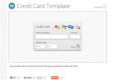 Credit Template For Photoshop Fresh Freebies For February Webdesigner Depot