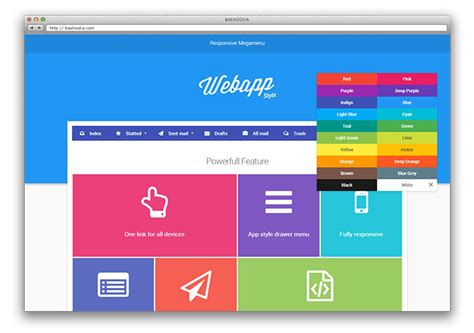 material design menu jquery 8 jquery material design plugins web graphic design