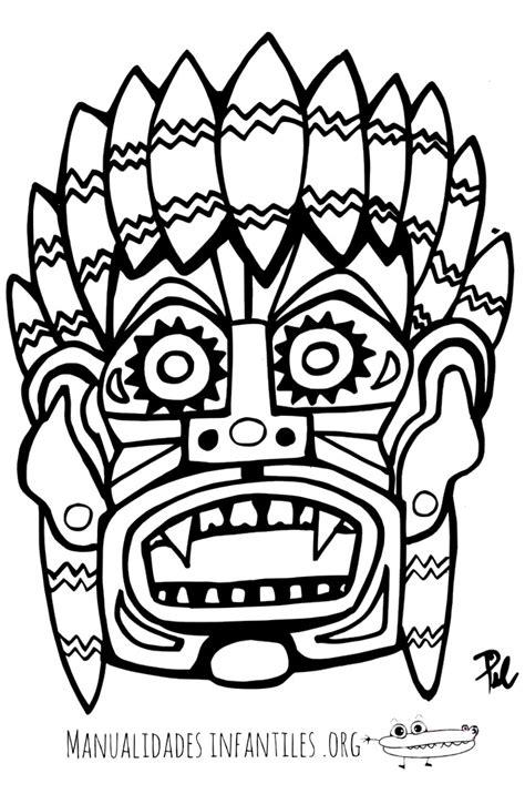 imagenes mayas para imprimir m 225 scara maya 3 manualidades infantiles