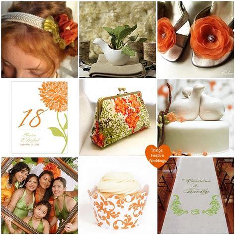tangerine orange willow green wedding theme with birds things festive weddings events