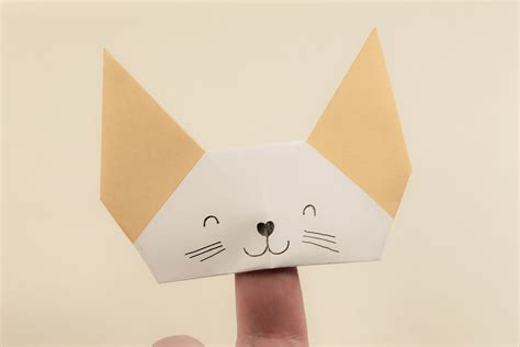How To Make A Puppet With Paper - origami finger puppet tutorial