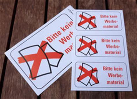 Sticker Keine Unadressierte Werbung by Praktische Aufkleber Quot Bitte Keine Werbung Quot Ratzfatz