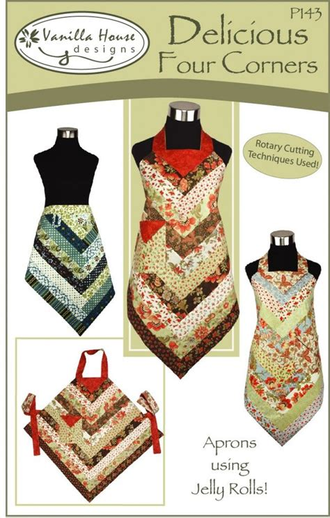 apron pattern using jelly roll 143 frontcoveronly rgb sewing patterns supplies