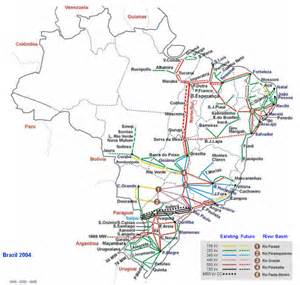 map of electricity grid brazil national