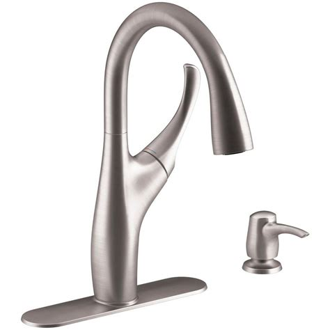 Kohler Single Handle Kitchen Faucet by Kohler Mazz Single Handle Pull Down Sprayer Kitchen Faucet