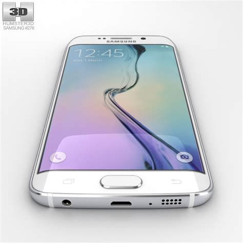 Samsung S6 Edge White samsung galaxy s6 edge white pearl 3d model hum3d