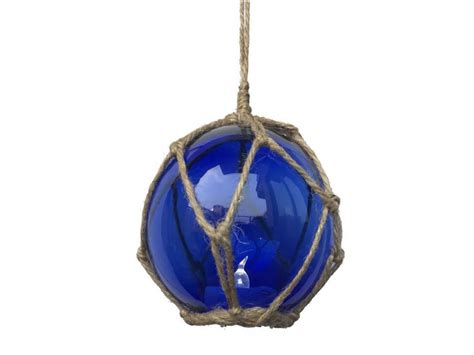 Wholesale Nautical Decor Suppliers by Led Lighted Blue Japanese Glass Fishing Float