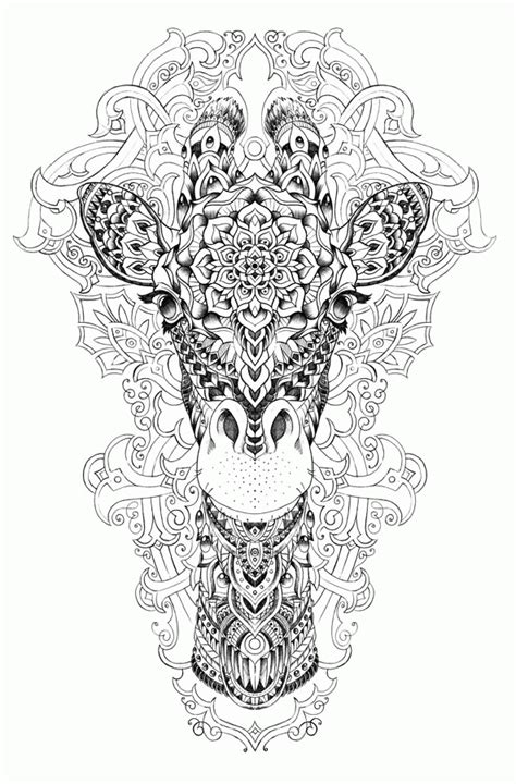 difficult giraffe coloring pages adult coloring pages safari az coloring pages