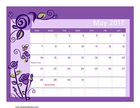 Calendar May 2017 May 2017 Calendar Printable With Holidays Calendar 2017 2018