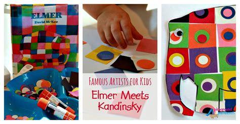 Christian Kids Crafts - famous artists for kids elmer meets kandinsky