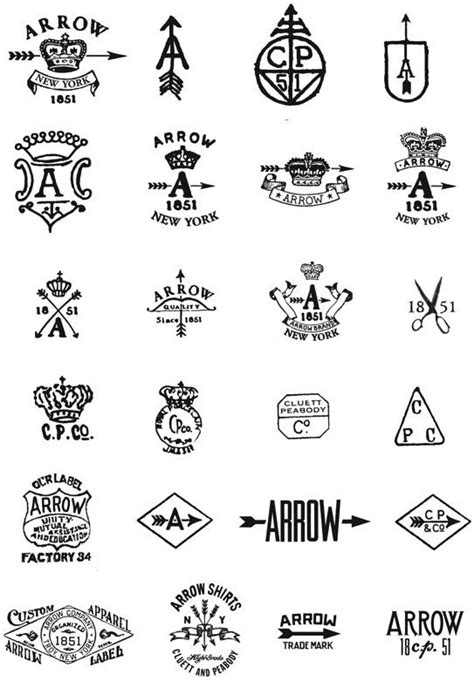 arrow cluett labels and packaging by glenn wolk via 150 best images about logo on pinterest sports logos