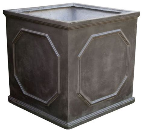 Fiber Clay Planters by Fiber Clay Chelsea Box Planter Black Large Traditional