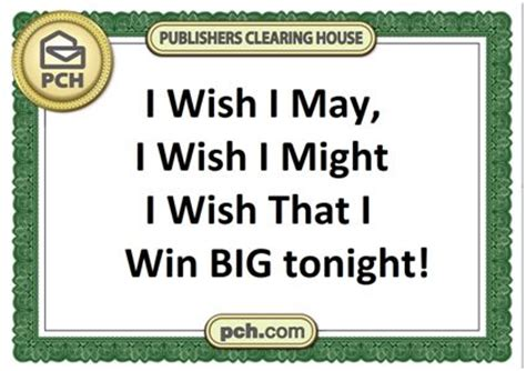 Pch Vip - i wish i may i wish i might be the one pch choses tonight