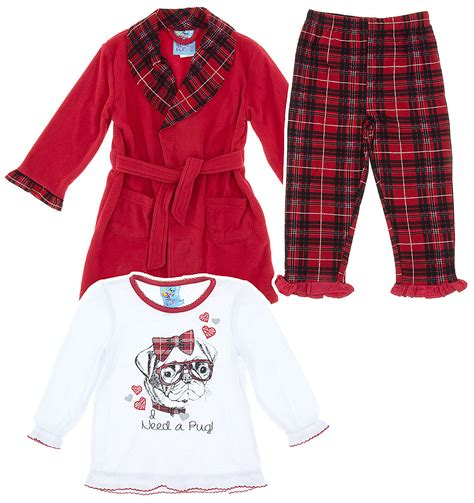 pug pajamas pug pajama set and bath robe for toddlers and