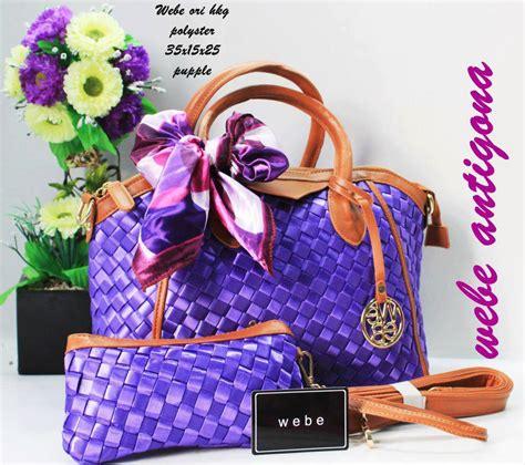 Tas Wanita Fashion Lv Pink Fanta tas webe antigona ori polyester purple harga murah