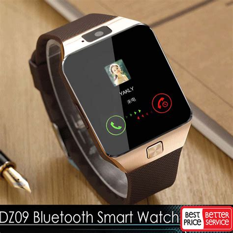 Xs Bluetooth Smart Watches Gsm Dz09 Card For Android Gold gold dz09 bluetooth smart gsm sim for iphone samsung lg android phone mate 654754010732 ebay