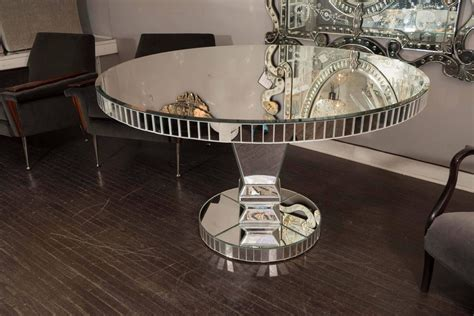 Mirrored Dining Room Tables Custom Mirrored Dining Table For Sale At 1stdibs