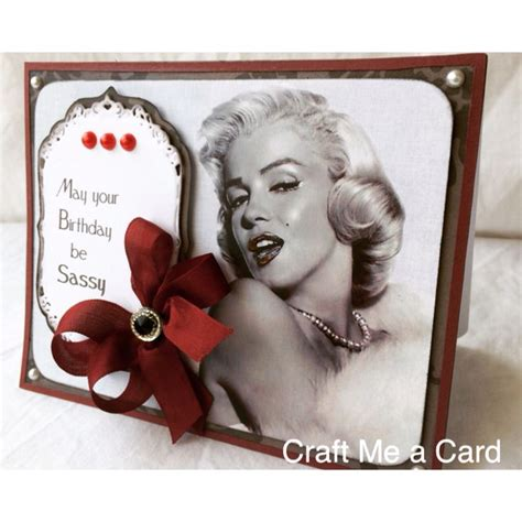 Marilyn Birthday Card 17 Best Images About Craft Me A Card Handmade Cards On