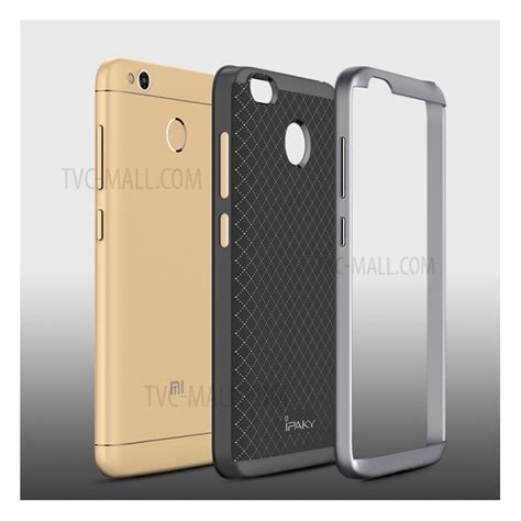 Ipaky Back Redmi 4x Silver ipaky 2 hybrid pc bumper tpu back phone for