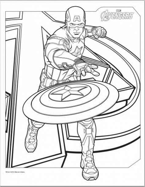 Captain America Coloring Pages For Kids Az Coloring Pages Captain America Color Page