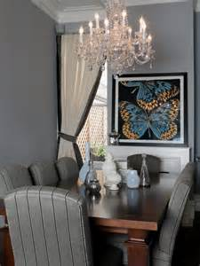 Gray Dining Rooms Gray Dining Room With Chandelier Designers Portfolio Hgtv Home Garden Television