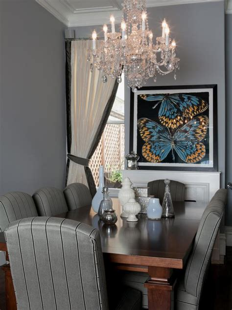 Gray Dining Room Gray Dining Room With Chandelier Designers