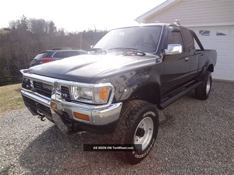 1991 Toyota 3 0 V6 1991 Toyota Truck Ext Cab 3 0 V6 5 Speed 4x4 Black Loaded