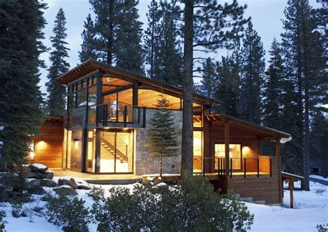 cool cabin designs cozy modern mountain retreat in lake tahoe window cabin