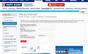 hdfc bank credit card track your application