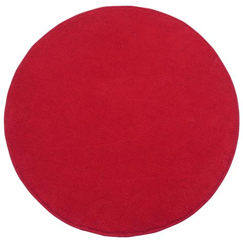 Plain Large Rugs by Cotton Tufted Plain Large Circular Rugs