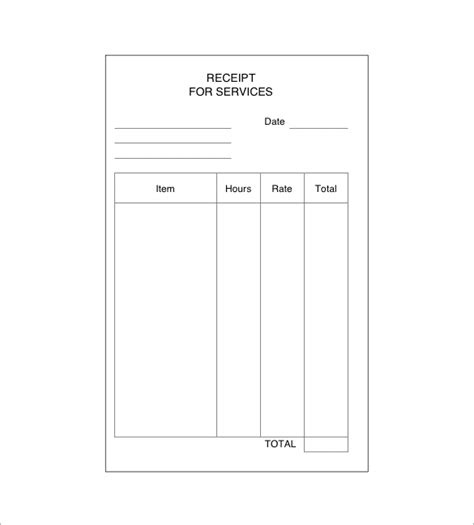 receipt template for services rendered service receipt template 9 free word excel pdf format