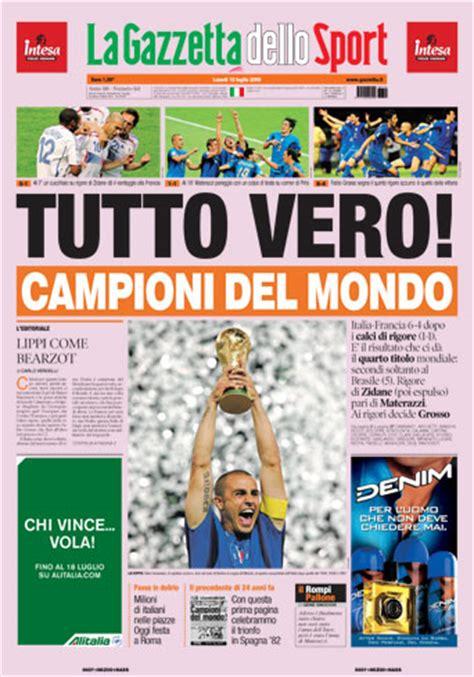 la gazzetta dello gazzetta dello sport italia cione mondo 2006 italy