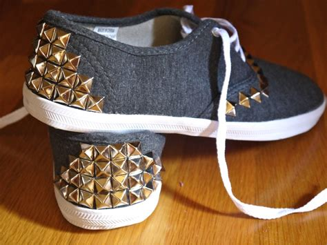 diy canvas shoes how to stud anything