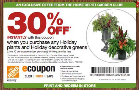 the home depot coupon 30 decorative greens