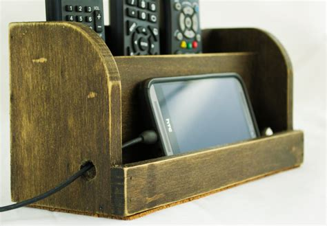 rustic charging station rustic dark wood charging station for ipad or smartphone