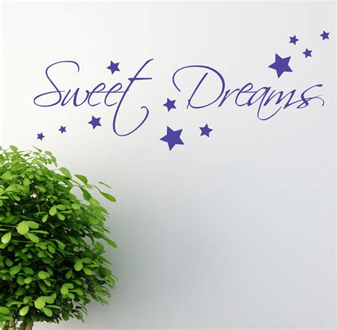 Sweet Dreams Wall Stickers sweet dreams wall sticker art decals quotes bedroom w43 ebay