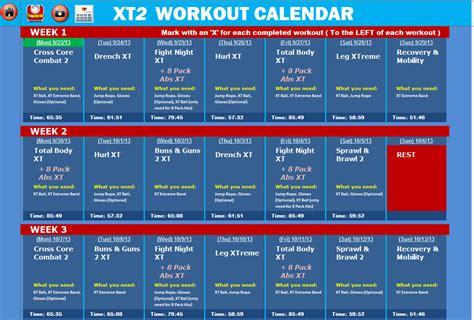 printable tapout xt calendar tapout xt workout schedule calendar template 2016