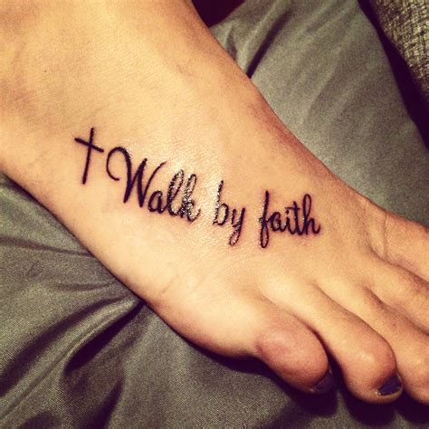 cross tattoo foot faith faith foot cross ideas