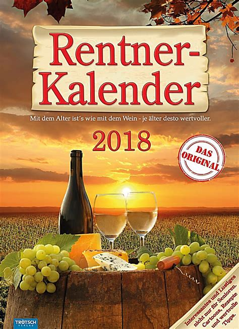 Kalendar 2018 Kaufen Rentner Kalender 2018 Kalender Bei Weltbild De Bestellen