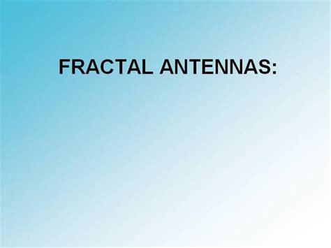 fractal antenna template pdf fractal antennas authorstream