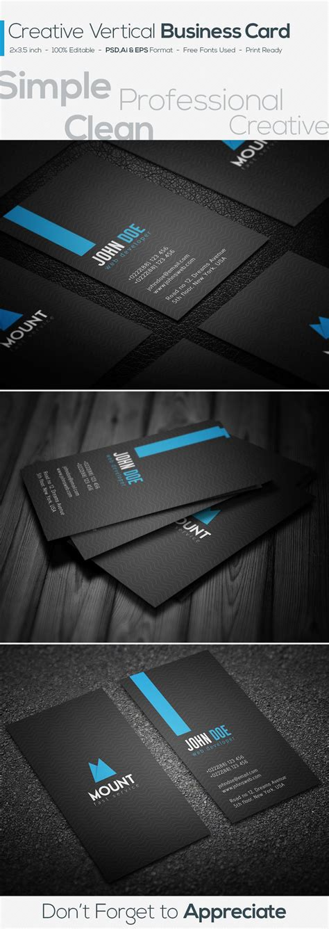 https www behance net gallery 23501915 creative business card template freebie https www behance net gallery 28289605 creative vertical