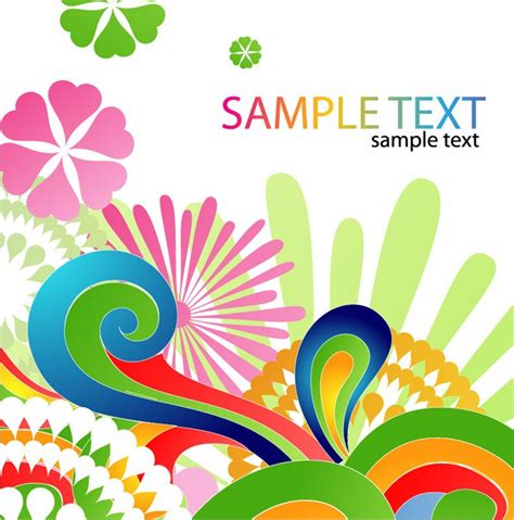 colored beautiful flowers design graphics vector flower colorful floral design abstract background free vector