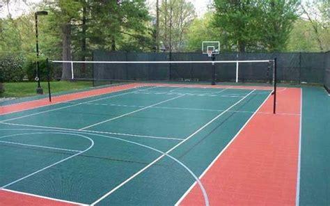 how much to build a tennis court in backyard best 25 backyard basketball court ideas on pinterest