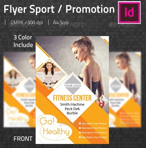 template flyer sport fantastic indesign flyer templates 56pixels com