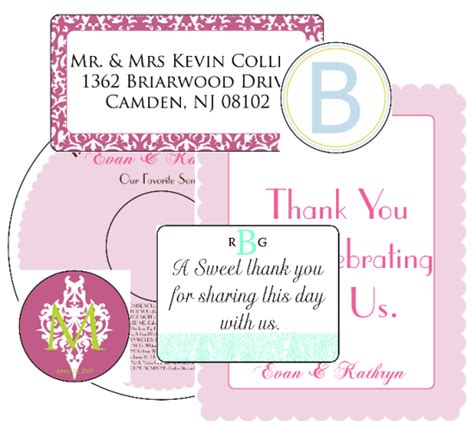 wedding label templates worldlabel blog