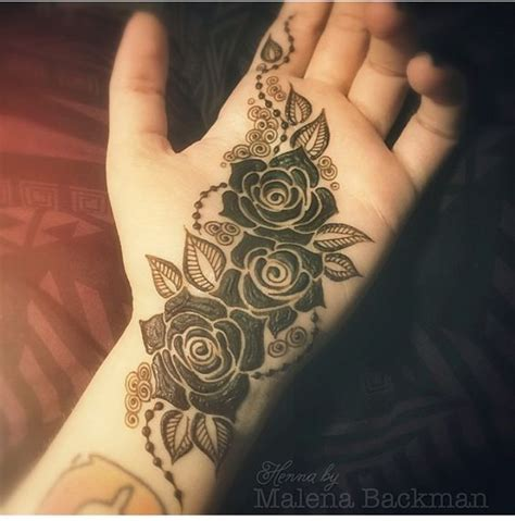 henna tattoo designs rose three roses mehndi pattern for palm mehndi design